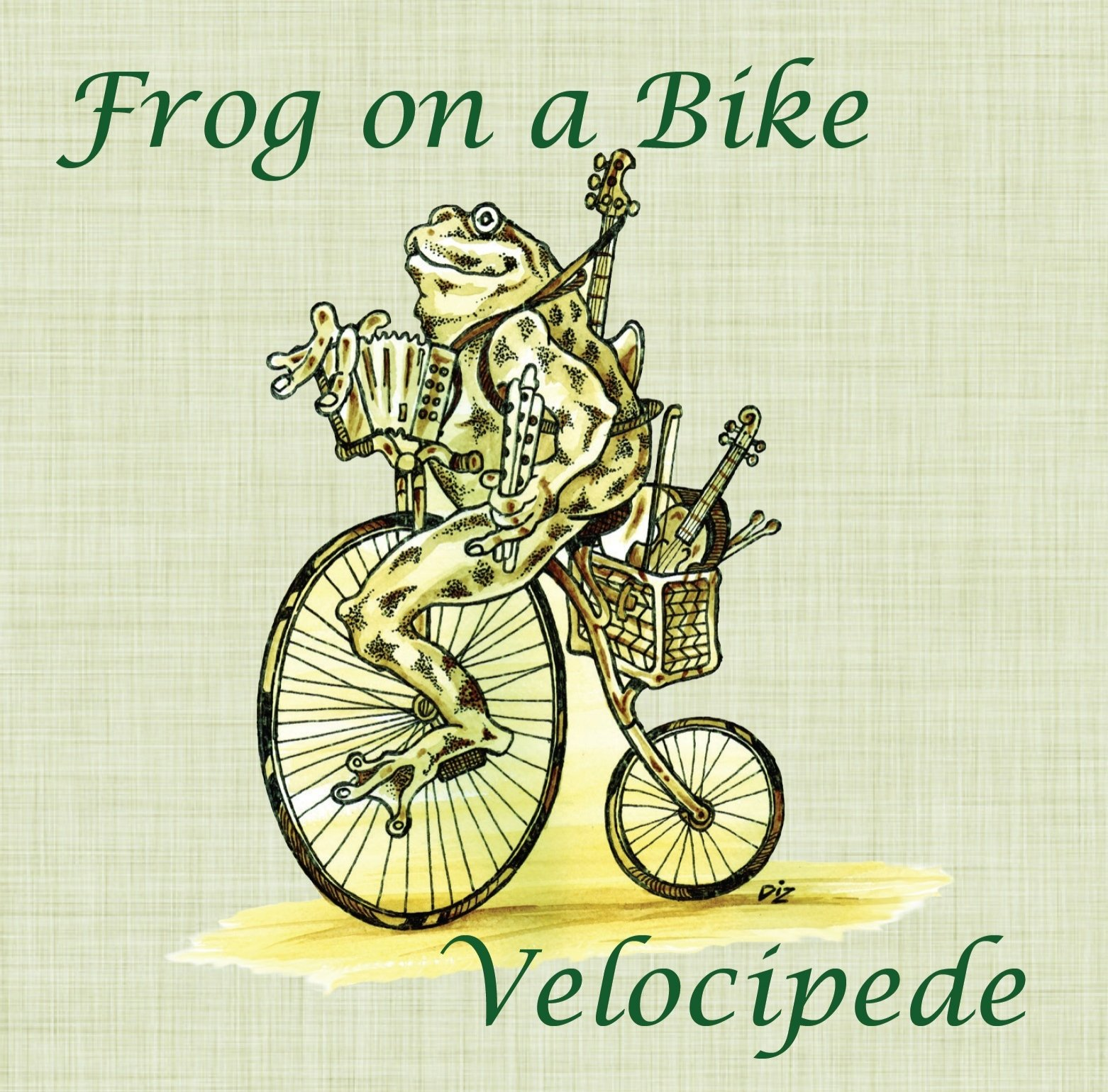 Velocipede Frog on a bike ceilidh band